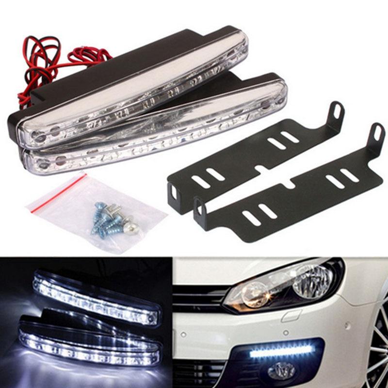 8 LED Daytime Running DRL 12V DC Light Bar day light For Chevrolet Lanos Malibu Metro Monte Carlo MW Niva Sail Sonic