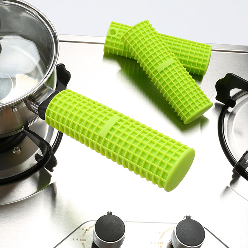 Silicone Pot Pan Handle Holder Sleeve Cover Grip Hot Sleeve Kitchen Utensil