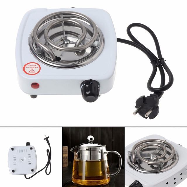Mexi Eu Plug 500w Stainless Steel Electric Stove Hot Plate Burner Travel Cooking Liances Portable Warmer