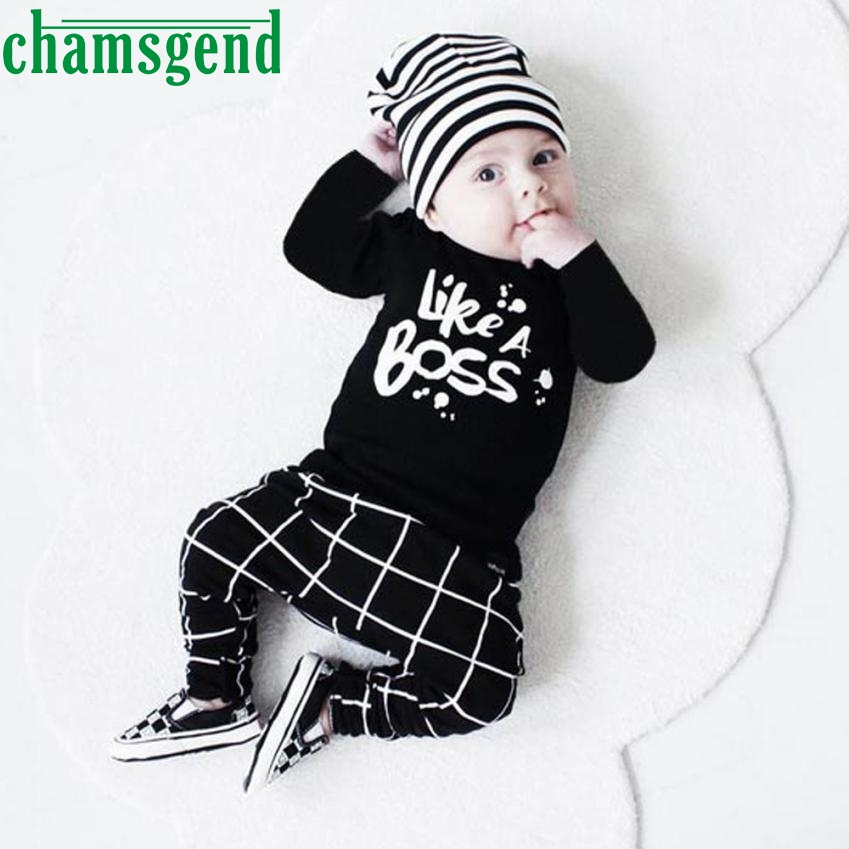 kids clothing set Baby Boy Outfit Lettering Printed Long Sleeve T-shirt Tops+ Pants Set Baby Body P30 fashion children db21