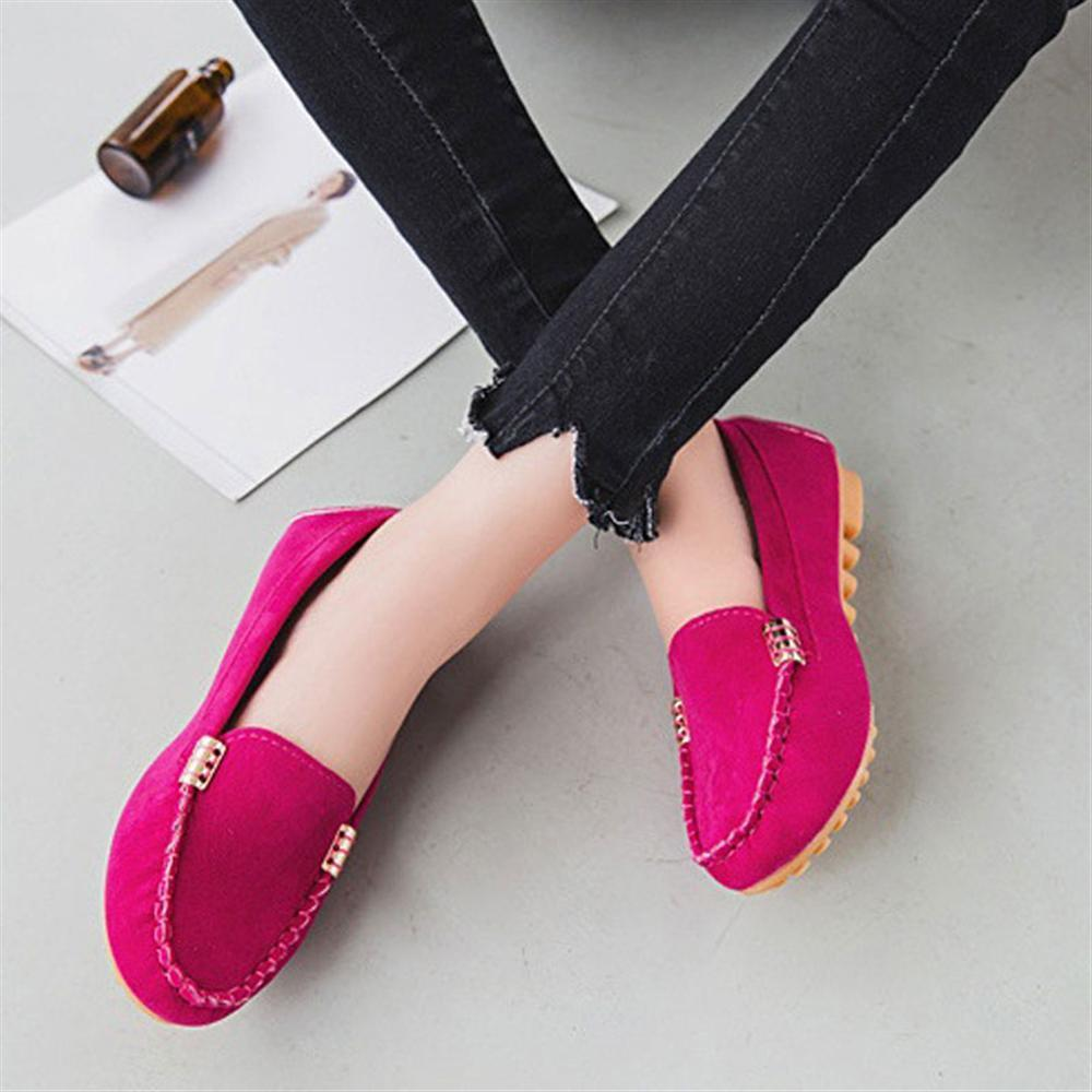 2018 new Spring and autumn Woman Flats New Fashion Pure Color Wild Concise Flat Casual Shoes Round Toe Comfortable Female Shoes muyang new 2017 women shoes genuine leather flats round toe bowtie soft comfortable flat shoes spring autumn casual female shoes