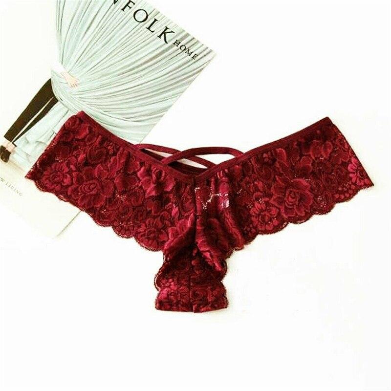 Untrathin и мягкий Для женщин сексуальное кружевное белье трусики короткое бикини Трусы-стринги Брюки Высокая Талия Бикини плавки
