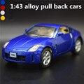 1:43 сплав вытяните назад cars, высокая моделирования Nissan 350Z спорт модель автомобиля, 2 открытых дверей, металлических diecasts, toy транспорт, бесплатная доставка