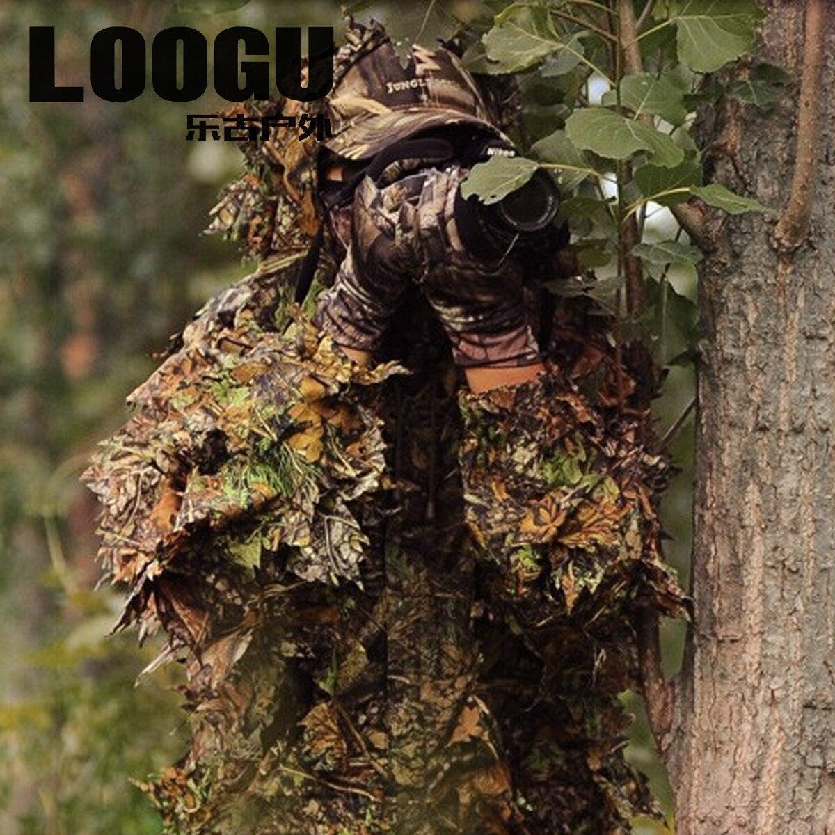 breed bereik super schattig nieuwe stijl 3D Jungle Camouflage Jacht Kleding Ghilliekostuum Survival ...