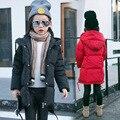 Дети Хлопка мягкой Длинную Одежду Девушка Хлопка-ватник детская Одежда Утолщение Зима Сохранить Теплые Дети Пальто ребенка
