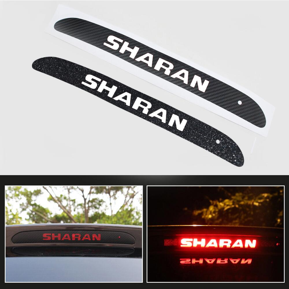 Car Additional Brake Light Sticker Carbon Fiber Decoration Cover Stickers Case For Volkswagen VW Sharan 2013 To 2016 Car Styling universal carbon fiber car keyhole decoration ring for volkswagen series silver black