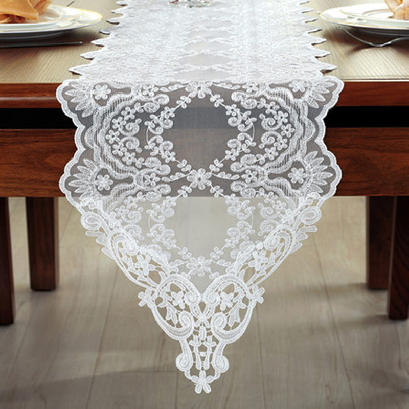 Elegant European Style Embroidery Table Runner Wedding