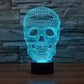 Colorful Three-dimensional Human Skeleton Shape Skull Visual LED Light 3D Color Creative Gradient Night Lamp Table Desk Decor