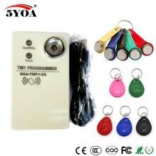 Tm rfid copiadora duplicador handheld rw1990 tm1990 tm1990b ibutton DS 1990A i button 125 khz em4305 t5577 em4100 tm leitor de cartão