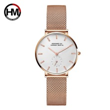 Luxury Brand Designer Ladies Dress Watch Rose Gold Ultra Thin Women Watches Steel Mesh Quartz Waterproof Clock relogio feminino dom women watches dom brand luxury new casual waterproof leather dress quartz watch mesh strap clock relogio faminino g 36gk 1ms