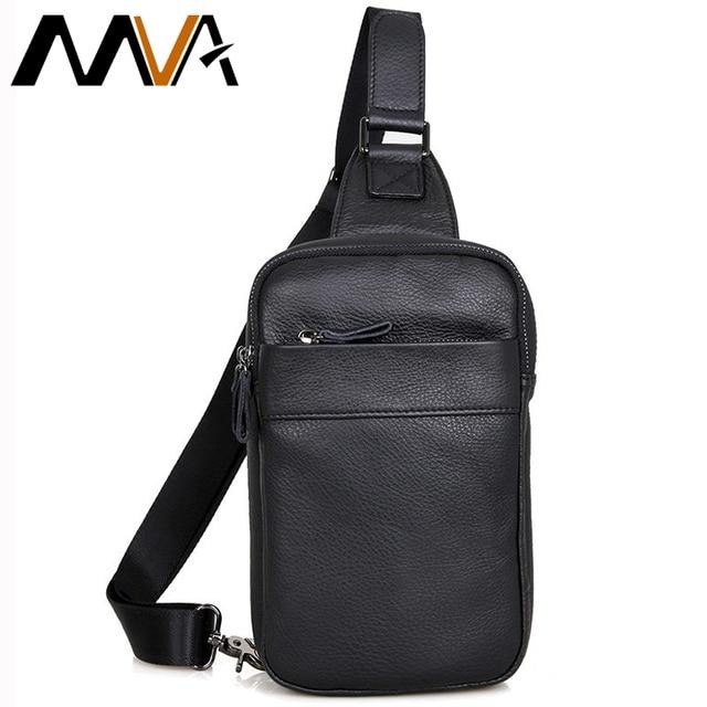 MVA Messenger Bag Leather Men Bag Genuine Leather Waist Pack Small Shoulder Crossbody Bags Fashion ipad Belt Waist Bags New 2017
