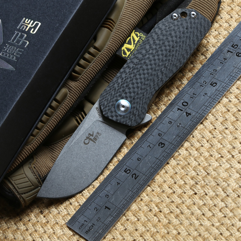 CH 3005 New AUS-8 blade Titannium handle Outdoor gear Flipper folding knife camping hunting Drills Saws knives EDC tools high quality army survival knife high hardness wilderness knives essential self defense camping knife hunting outdoor tools edc