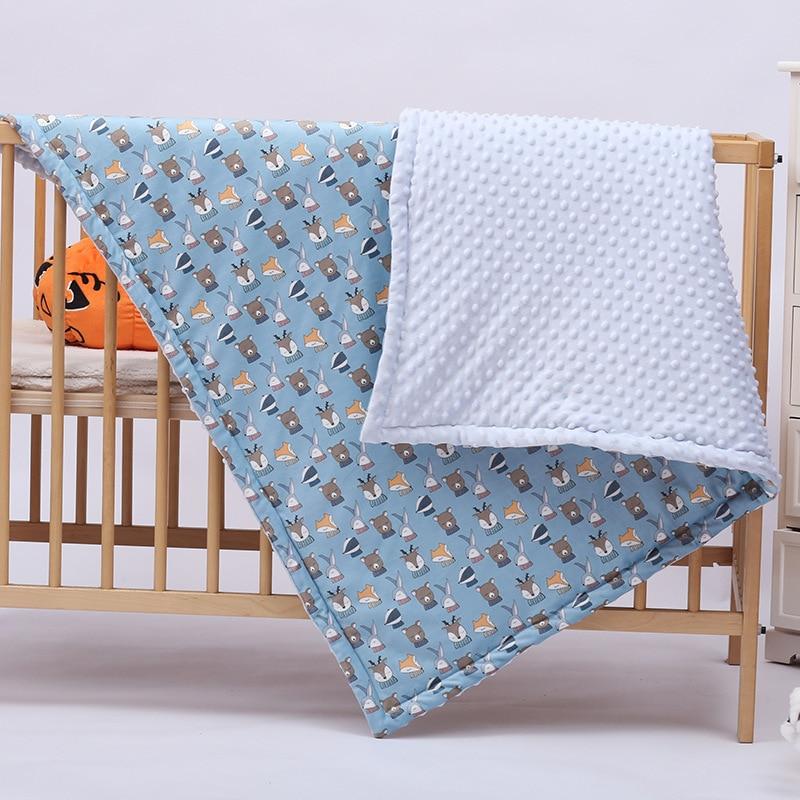 Polar Dot Flannel Baby Blanket Infant Cartoon Unicorn Swaddle Wrap Blankets Newborn Baby Bedding Stroller Cover Kids Blankets in Blanket Swaddling from Mother Kids