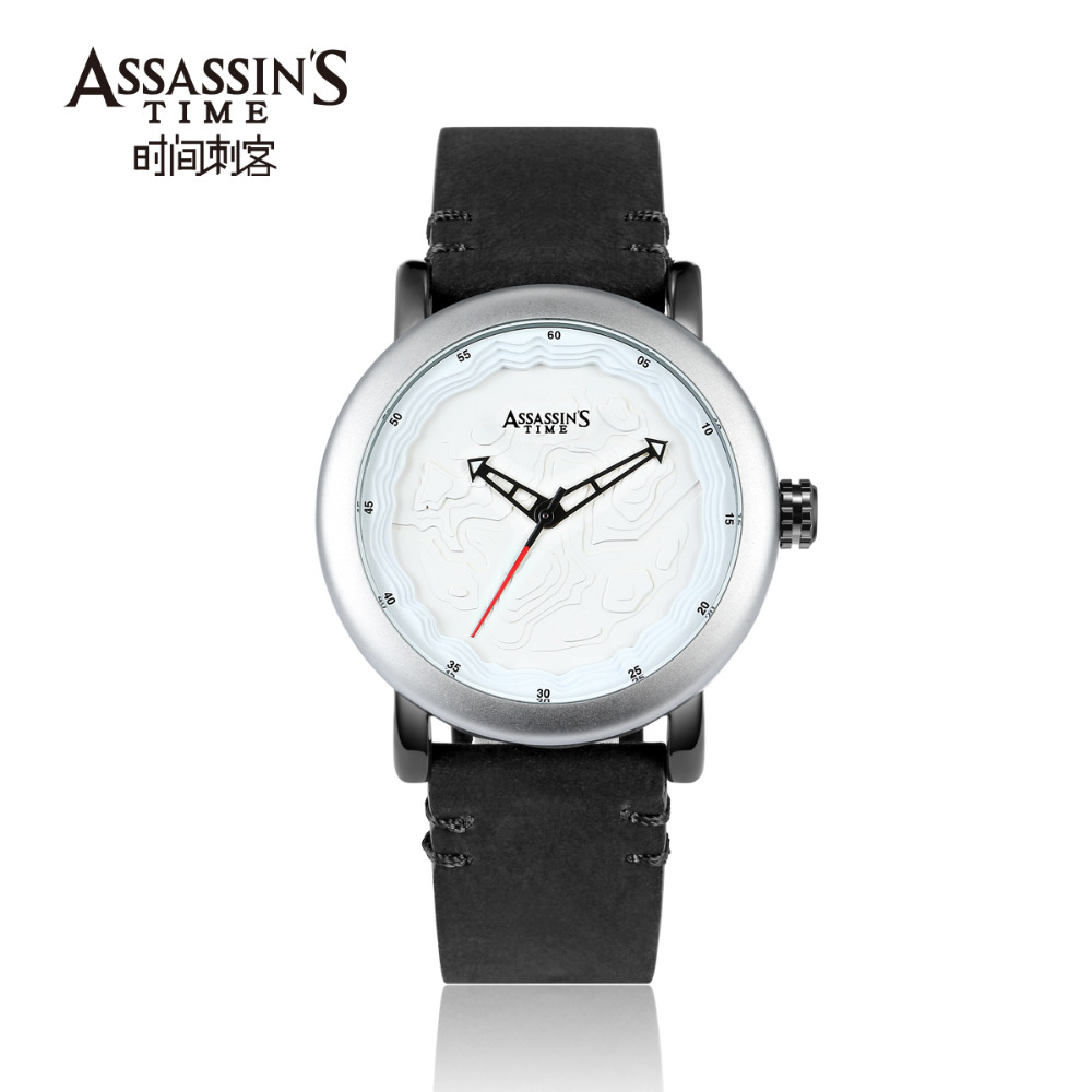 Assassin's Time Leather Band Watch meeste top brändi luksuslik - Meeste käekellad - Foto 3
