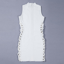 INDRESSME New Summer Dress Sexy Side Lace Up Bodycon Bandage Dress