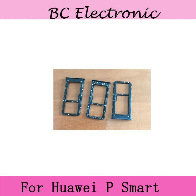 Sim Card Slot Tray Card Holder For Huawei P smart Mobile Phone Sim Card Holder Tray Card Slot For Huawei Psmart