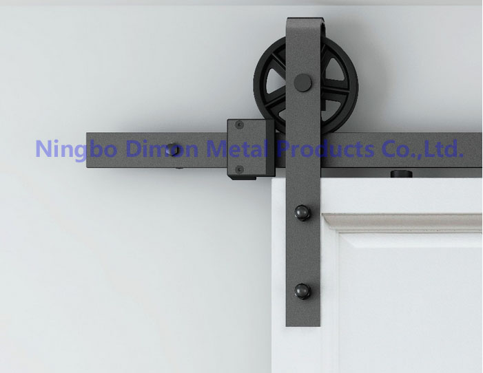 Dimon customized sliding door hardware wood barn door hardware hanging wheel America style sliding door hardware DM SDU 7210