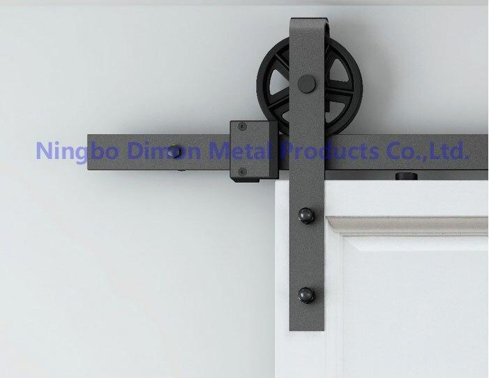 Dimon personnalisé porte coulissante matériel bois grange porte matériel suspendus roue style américain porte coulissante matériel DM-SDU 7210