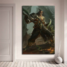 Grommash Hellscream World Of Warcrafts Canvas Painting Print Bedroom Home Decor Modern Wall Art Oil Poster Picture HD