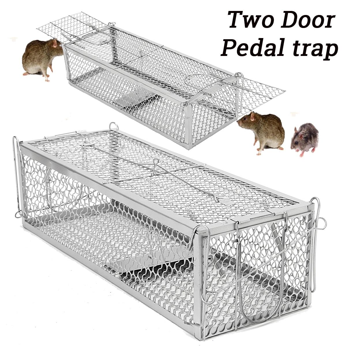 Doppia Porta Ratto Gabbia di Topi Repeller Del Roditore Animale Del Mouse Trappola Gabbia del Criceto Mouse Ratto di Controllo Cattura di Controllo Dei Parassiti