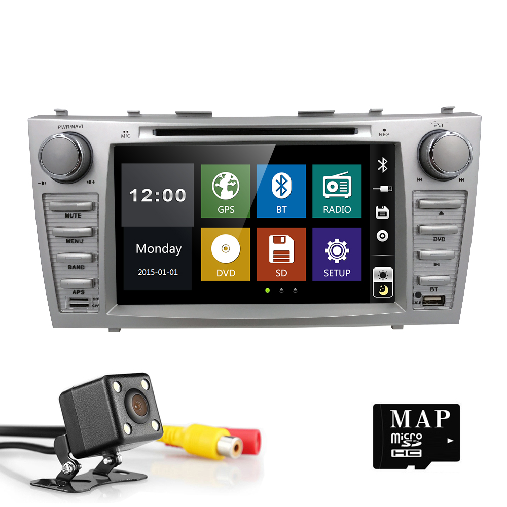 8 Inch 2 Din Car DVD Player GPS Navigation Auto Radio For Toyota Camry 2007 2008 2009 2010 2011 Aurion 2006 RDS AUX USB SWC BT for toyota corolla support year 2007 2008 2009 2010 with 3g wifi multi touch screen car dvd gps navigation build in bluetooth radio with rds analog tv aux