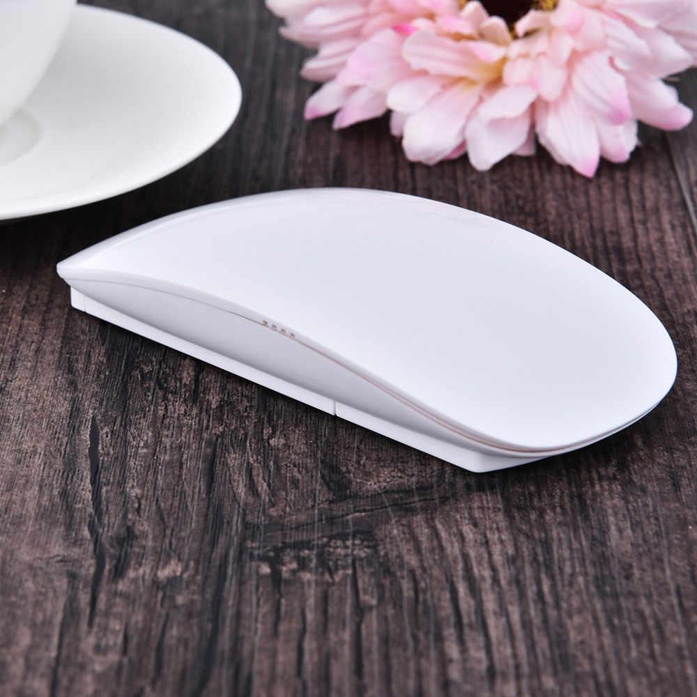 VOBERRY ワイヤレス 2.4 Ghz のマウス超薄型 Led バックライト光学 1200 DPI 2 ボタンゲーミングマウス人間工学とバッテリーの Pc ラップトップ