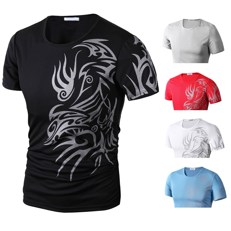 2019 Fashion Summer Men T-Shirt Short Sleeve O Neck Chinese Style Printing Tops Comfortable Man Casual T-Shirts OH66