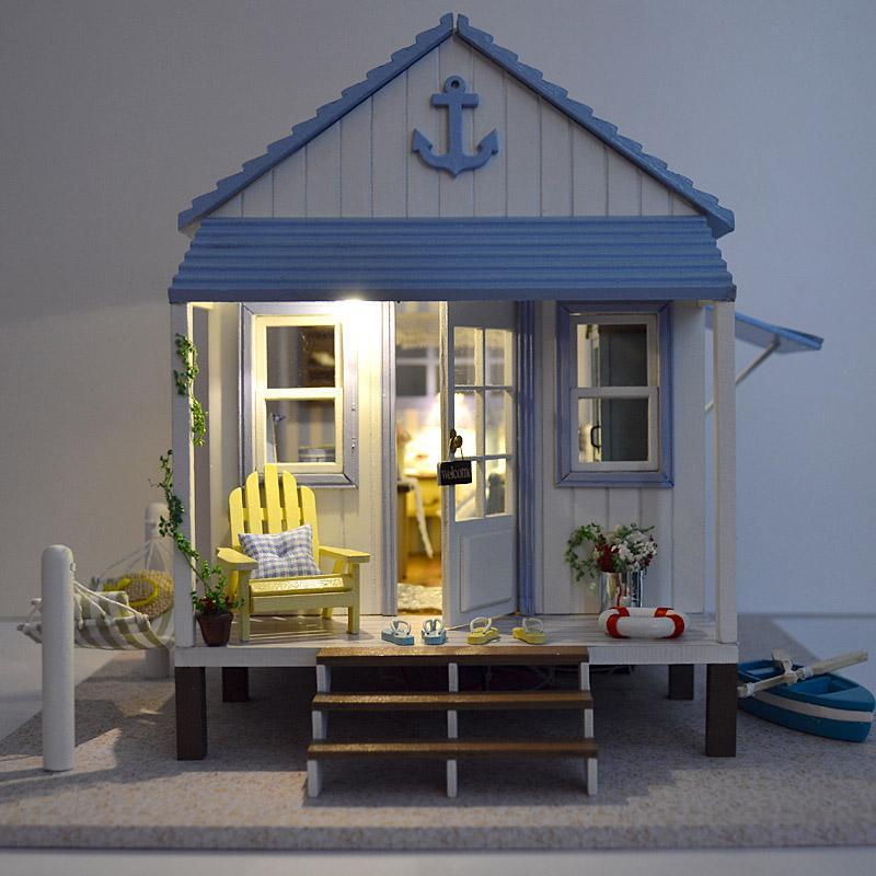 doll house lighting. Home Decoration Crafts DIY Doll House Wooden Houses Miniature Dollhouse Furniture Kit Room LED Lights Gift A 017-in From Toys \u0026 Hobbies Lighting