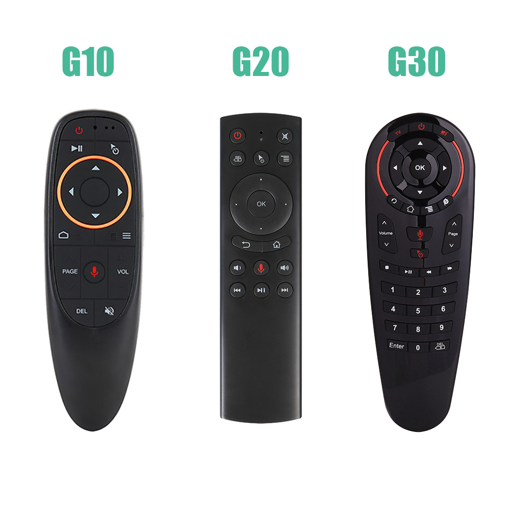 G10/G20/G30 Voz Controle Remoto Giroscópio Mini Teclado Sem Fio 2.4G Air Mouse Microfone IR Aprendizagem Para x96 H96 HK1 Caixa de TV