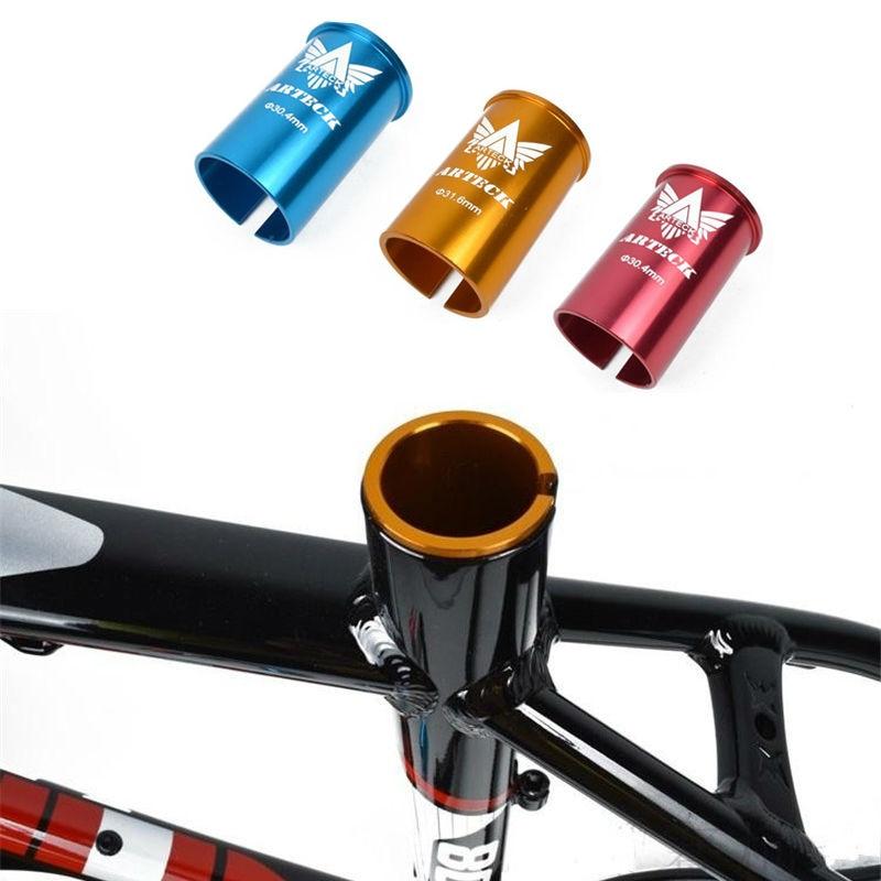 Spor ve Eğlence'ten Koltuk Kelepçeleri'de 30.4 30.8 31.6mm Dağ Bisikleti Yol Bisiklet Seatpost Koltuk Tüpü Azaltma Kollu Bisiklet Seatpost Ayarlanabilir Setleri title=