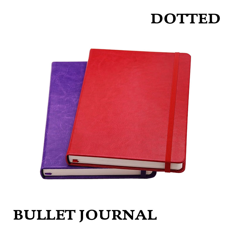 Dot Grille PU Portable Points Caderno Pontilhado Main Livres Cuaderno Punteado Journal Pointillé Bullet Journal Bujo