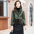 4b501c86fb Leather Jacket Women Wool Warm Female 2018 Winter Faux Leather Coat Short  paragraph Motorcycle Fur Jacket Ladies Plus Size S-L