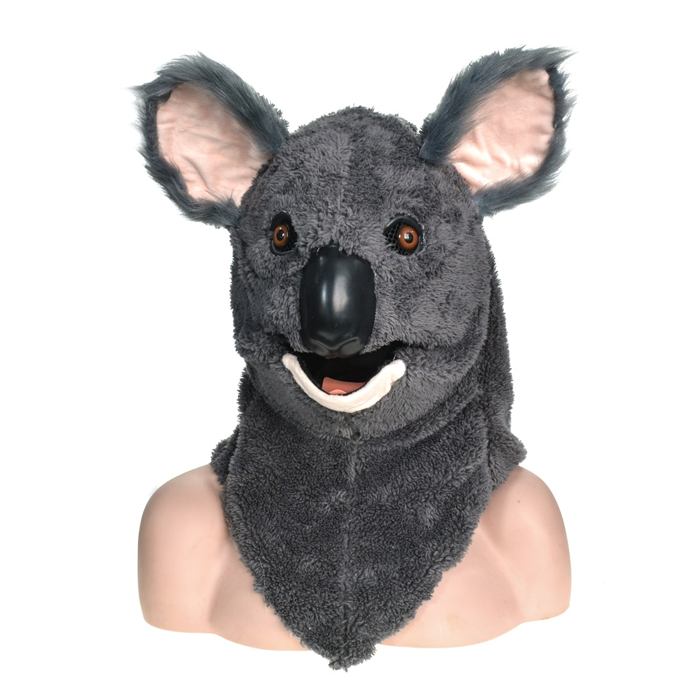 Koala moving mouth mask with fur decorated for Halloween ...