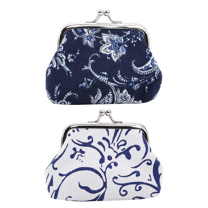 1 шт. мини-кошелек женские Ретро Винтажные синие и белые фарфоровые дизайнерские маленькие бумажники портмоне женский кошелек с застежкой клатч сумка для девочек