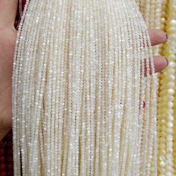 2011b14e9644 Venta al por mayor de cáscara Natural perlas blanco de grano de piedra para  la fabricación de la joyería DIY pulsera collar de piedra de 15