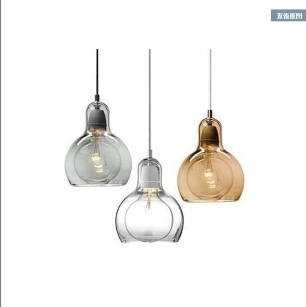 Single chandelier glass modern simple personality big light bulb creative restaurant light bar counter bedroom CL FG892