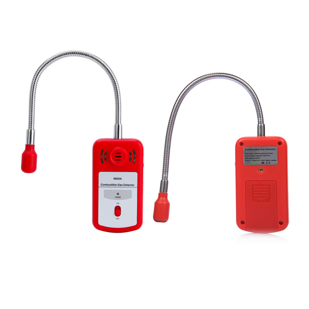 Portable Gas Analyzer Combustible Gas Detector Gas Leak Location Determine Tester With Sound-light Alarm