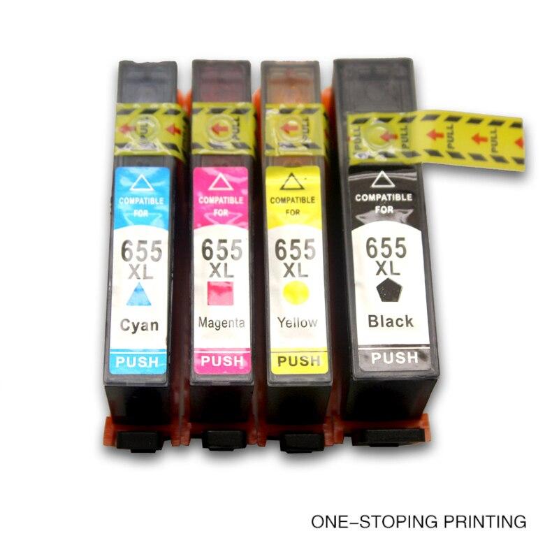 Für hp655xl volle tintenpatronen für hp deskjet ink vorteil 3525/4615/4625/5525/6520/6525 für hp...