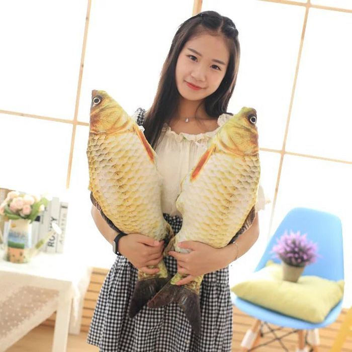New Funny Fish Staffed Soft Animal Fish Plush Toys Pillow Creative Sofa Pillow Cushion Kids Toy Christmas Gifts For Education TY