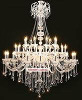 Modern Large 45 Pcs Led Candle Chandelier For Living Room Duplex House Hall Lobby Clear