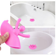 Creative Kitchen Washroom Bathroom Shower Waterproof Silicone Drainages Water Tools Prevent Blocking Stopper Utensils