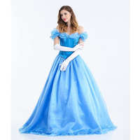 Adult Cinderella Costume Dress Woman Cosplay Halloween Costume Party Dress Princess Dress For Adult