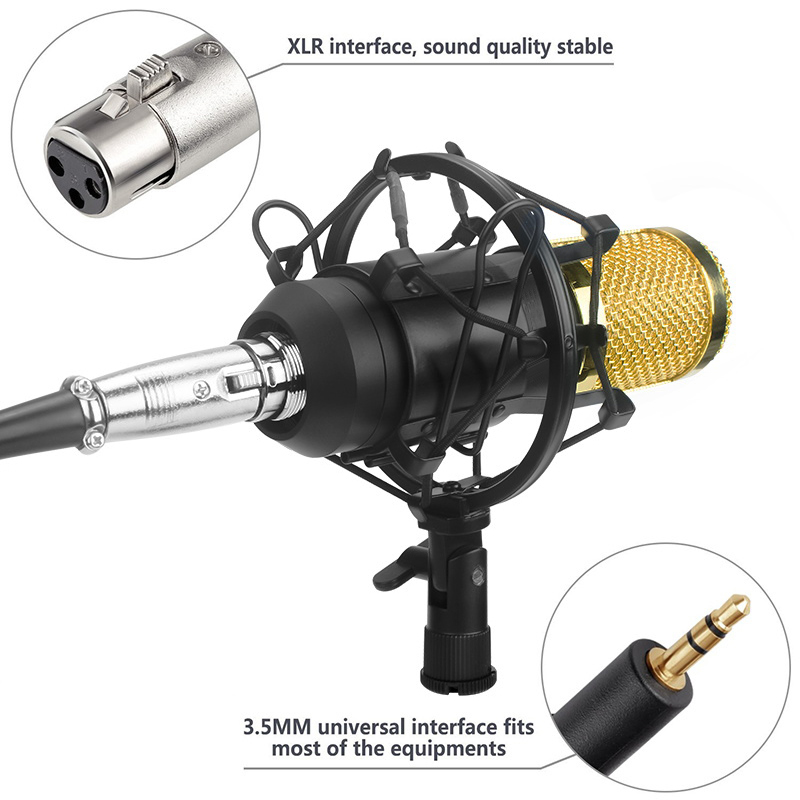 Ituf BM 800 Condenser Microphone Professional 3.5mm With