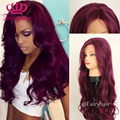 Cheap Long Wavy Synthetic Lace Front Wig Purple Body Wave Heat Resistant Hair Wigs For Women wigs Free Shipping