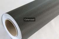 Black 3D carbon fiber vinyl film car sticker for automobile and electronics with Air Bubble Free For Car Wrap