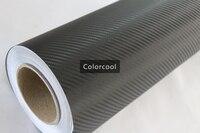 Black 3D carbon fiber vinyl film car sticker for automobile and electronics with Air Bubble Free For Car Wrap