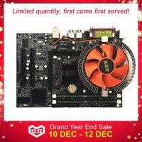 Motherboard CPU Set With Quad Core 2.66G CPU Core + 4G Memory + Fan ATX Desktop Computer Mainboard Assemble Set New arrival