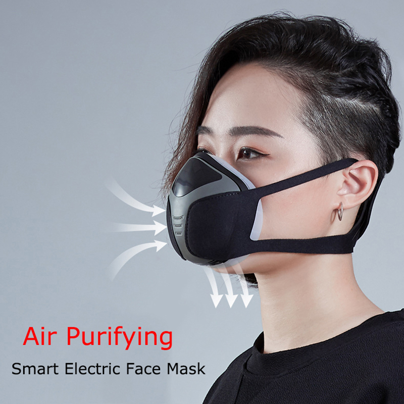 Electric Smart Dust Maks With USB Rechargeable N95 Mask Anti Pm2 5 Ash Pollen Formaldehyde for