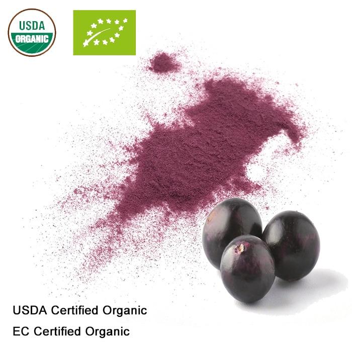 USDA And EC Certified Organic Acai Berry Juice Powder
