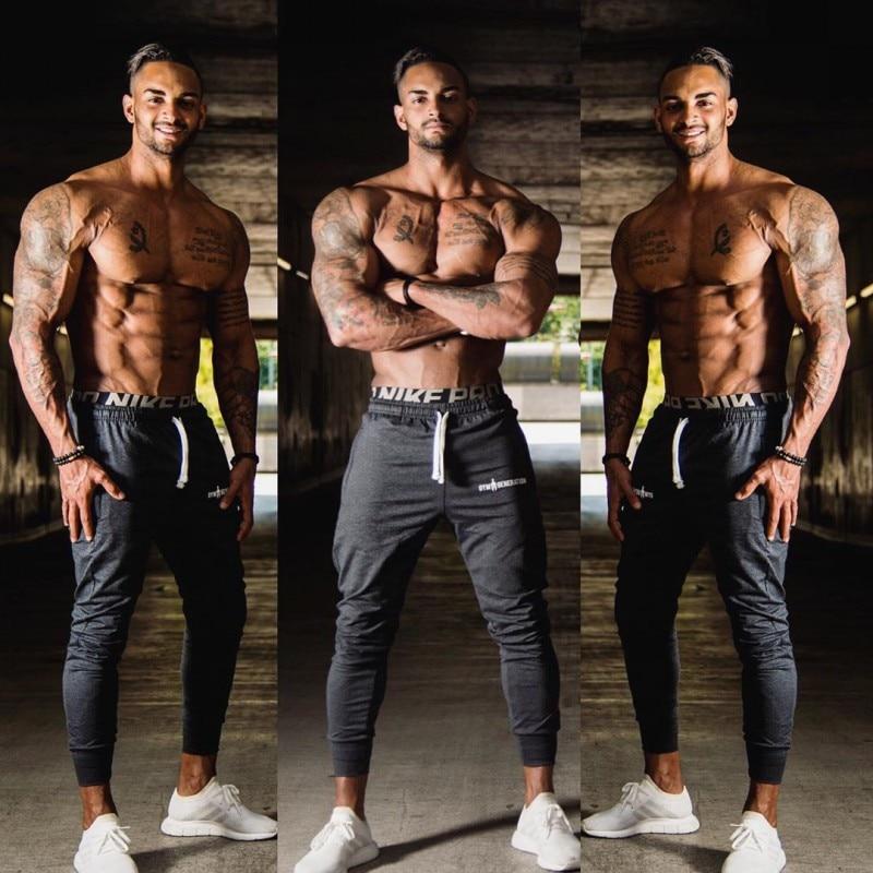 Brand 2019 NEW GYMS Mens Joggers Pants Fitness Casual Fashion Brand Joggers Sweatpants Bottom Snapback Pants Men Casual Pants